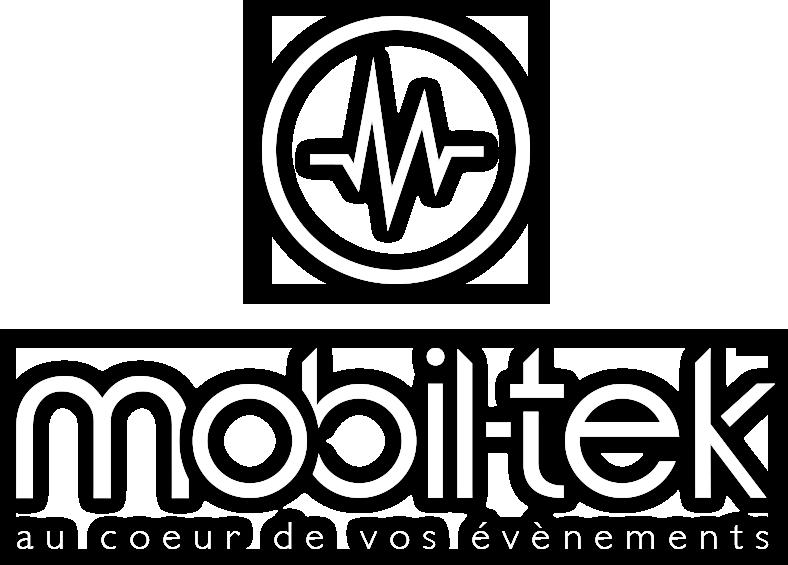 Logo Mobil-Tek Full - Accueil - Service - Aniation - Mobil-Tek - Animation - Sonorisation - Éclairage - Évènements - Ville de Québec - Mariage - Animation - Anniversaire -Bal de finissants - Party de bureau - Événements - Soirée thématique - Audio Visuel